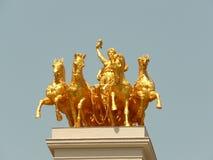 Golden statue parc de la citadella barcelona spain Stock Image