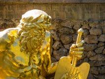Golden statue, Peterhof Palace  Royalty Free Stock Photo