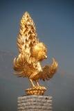 Golden statue of Phoenix front a Chongsheng temple. Stock Photo