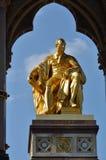 Golden statue of prince albert Stock Images