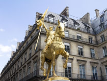 The golden statue Stock Photography