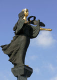 Golden Statue of St. Sofia in Sofia, Bulgaria. Monument of Saint Sofia. Sofia, Bulgaria Stock Photography