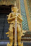 Golden statue in the temple of Thailand Stock Image