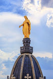 Golden Statue of Virgin Mary Royalty Free Stock Photos