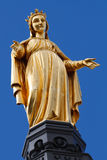 Golden Statue of Virgin Mary, Saint Mary, Our Lady Royalty Free Stock Photography