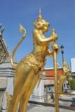 Golden Statue at Wat Phar kaew Stock Photography