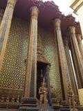 Golden statue at Wat Phra Kaew in Bangkok royalty free stock image