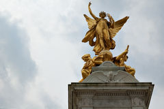 Golden statue of a  winged woman Stock Image