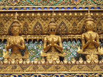 Golden statues royalty free stock image
