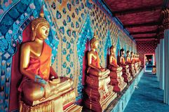 Statues of Buddha in Wat Arun temple, Bangkok Royalty Free Stock Photo