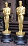 Golden Statues Stock Image