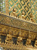 Golden Statues at Palace Stock Image