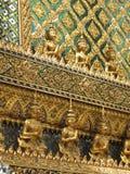 Golden Statues at Palace. Golden statues at Grand Palace in Bangkok Stock Image