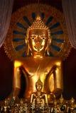 Buddha, Golden statute Royalty Free Stock Photos