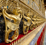 Golden staute of Garuda right side at Emerald Buddha temple, Kin Royalty Free Stock Images