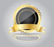 Golden sticker,vector Royalty Free Stock Photos