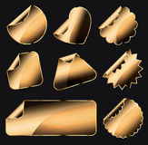 Golden stickers Royalty Free Stock Images