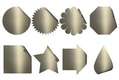Golden Stickers Royalty Free Stock Image