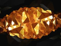 Golden stone Royalty Free Stock Images