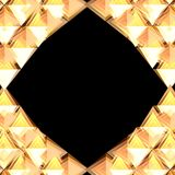 Golden stone frame Royalty Free Stock Photography
