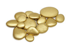 Golden stones Royalty Free Stock Image