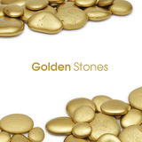 Golden stones frame Royalty Free Stock Image