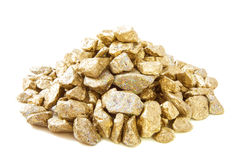 Golden stones Stock Images