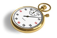 Golden stopwatch Stock Photography