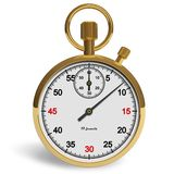 Golden stopwatch Royalty Free Stock Image