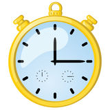 Golden stopwatch Royalty Free Stock Images