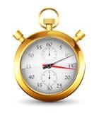 Golden stopwatch Stock Image