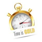 Golden stopwatch Royalty Free Stock Photos