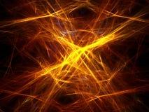 Golden storm. Golden intersecting linear waves background stock illustration