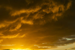 Golden Storm Clouds Stock Images