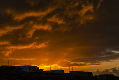Golden Storm Clouds Royalty Free Stock Image