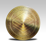 Golden stratis coin  on white background 3d rendering. Illustration Royalty Free Stock Photos