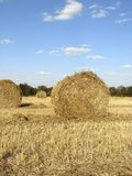 Golden straw bales Royalty Free Stock Photo