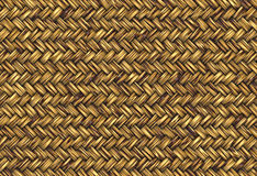 Golden straw wicker Stock Photography