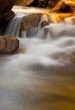 Golden Stream Cascade Royalty Free Stock Photography
