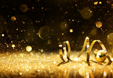 Free Golden Streamers With Sparkling Glitter Stock Photo - 60151710