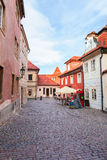 Golden street inside of Old Royal Palace in Prague, Czech Republic. Stock Image