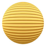 Golden striped decoration ball Stock Photography