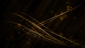 Golden stripes background. Gold lines on black background with blury circles Royalty Free Stock Photo