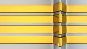 Golden stripes Stock Images
