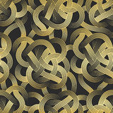 Golden Stripes Seamless Pattern Stock Image