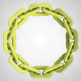 Golden strong chain circle in top view Royalty Free Stock Image