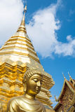 Golden structure in Wat Phra That Doi Suthep in Chiangmai, Thailand Royalty Free Stock Photos