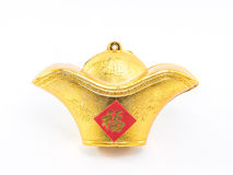 Golden stuff Chinese decoration for chinese new year Stock Image