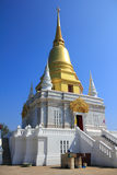 Golden stupa. In the temple at north of Thailand, Chiangrai Royalty Free Stock Image