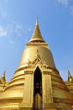 The golden stupa. At the emerald buddha temple - Thailand Royalty Free Stock Image